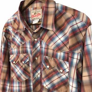Wrangler Men's Snap Button Shirt Size Large